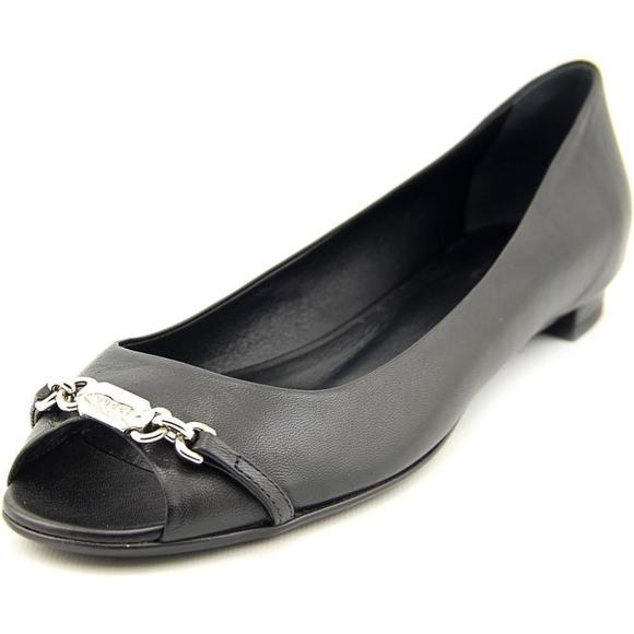 79d76bad8ae Gucci Black Salandia Peep Toe Flat -6